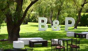 Letras grandes para bodas